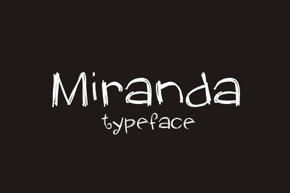 Print on Demand: Miranda Script & Handwritten Font By Carolina Mejia