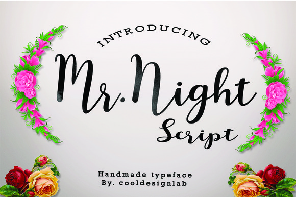 Print on Demand: Mr. Night Script & Handwritten Font By Cooldesignlab