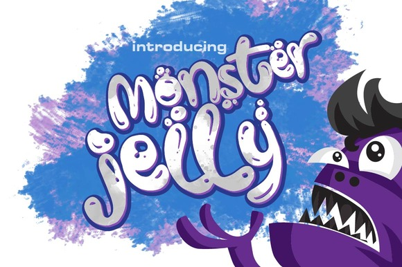 Print on Demand: Monster Jelly Display Font By Olexstudio