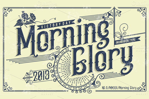 Morning Glory Display Font By inumocca_type