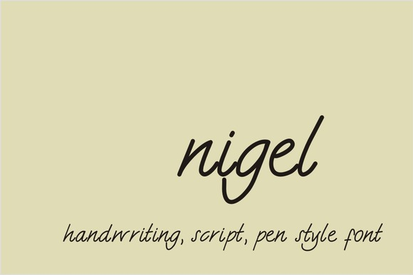 Print on Demand: Nigel Script & Handwritten Font By Carolina Mejia