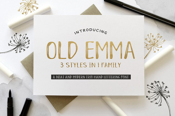 Print on Demand: Old Emma Serif Schriftarten von Blue Robin Design Shop