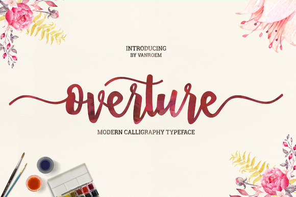 Print on Demand: Overture Script & Handwritten Font By VanRoem