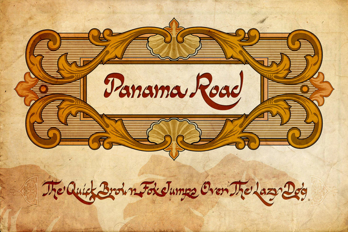 Print on Demand: Panama Road Script & Handwritten Font By Fernando Haro