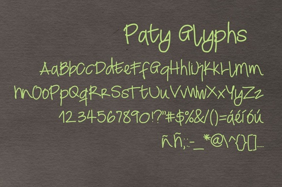 Print on Demand: Paty Script & Handwritten Font By Carolina Mejia