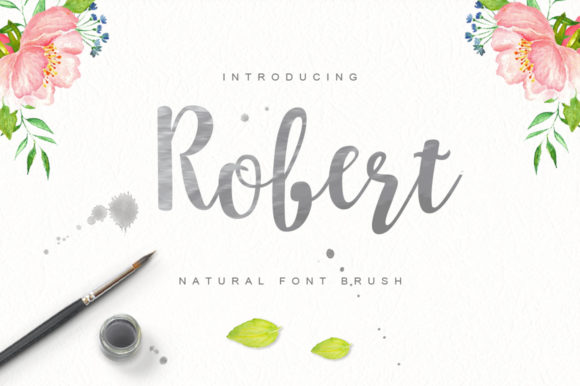 Print on Demand: Robert Brush Script & Handwritten Font By Cooldesignlab