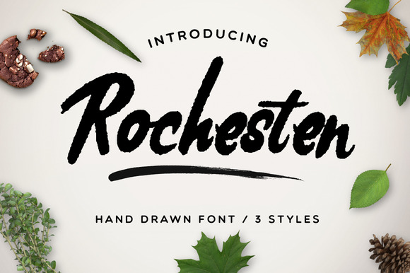 Print on Demand: Rochesten Display Font By Mellow Design Lab
