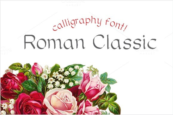 Print on Demand: Roman Classic Sans Serif Font By Carolina Mejia
