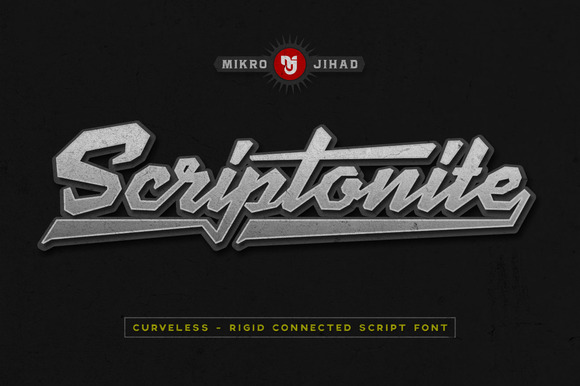 Print on Demand: Scriptonite Script & Handwritten Font By Mikrojihad Typefounder