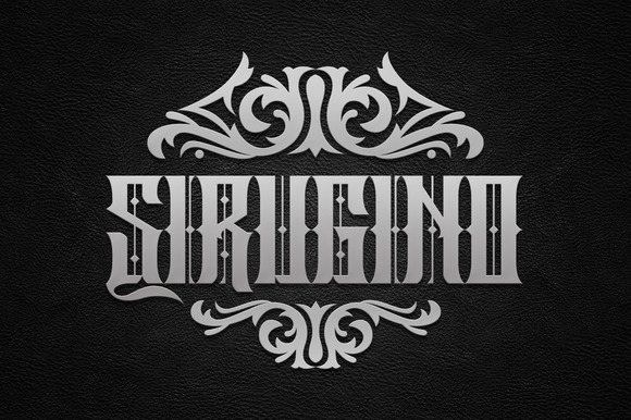 Print on Demand: Sirugino Blackletter Font By Arterfak Project