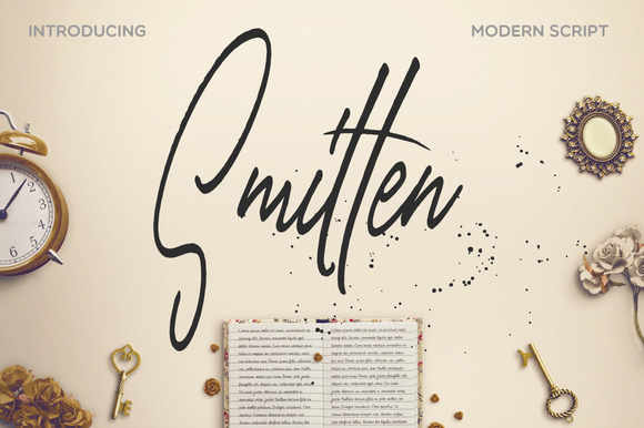 Print on Demand: Smitten Script & Handwritten Font By Mellow Design Lab