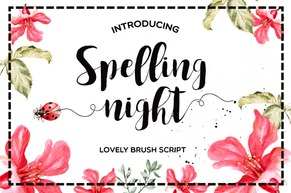 Print on Demand: Spelling Night Script & Handwritten Font By Mellow Design Lab