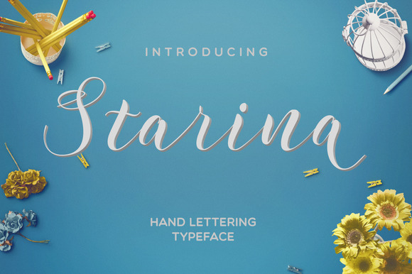 Print on Demand: Starina Script & Handwritten Font By Mellow Design Lab