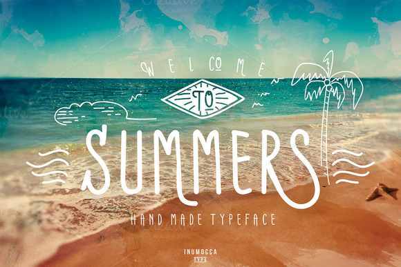 Print on Demand: Summers Script & Handwritten Font By inumocca_type - Image 1