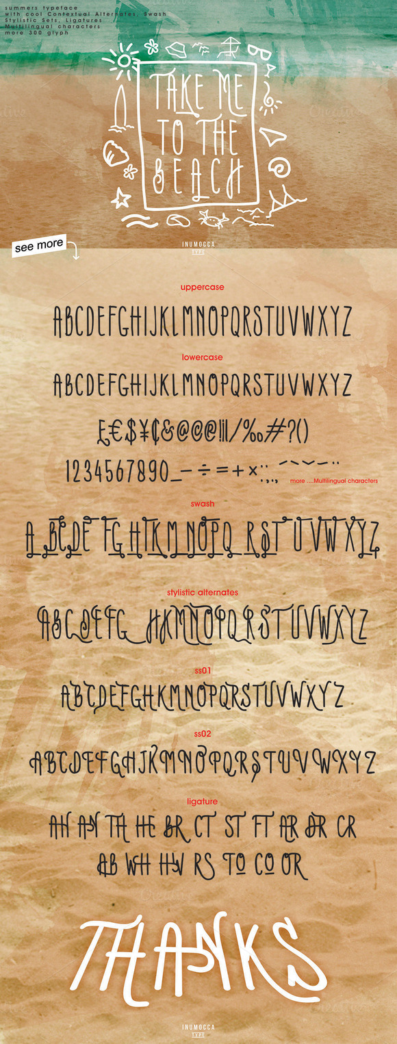 Print on Demand: Summers Script & Handwritten Font By inumocca_type - Image 2