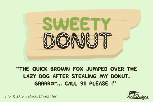 Print on Demand: Sweety Donut Display Fuente Por YandiDesigns