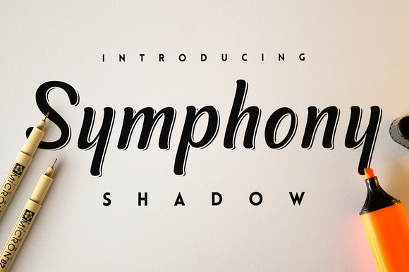 Print on Demand: Symphony Shadow Script & Handwritten Font By SNK