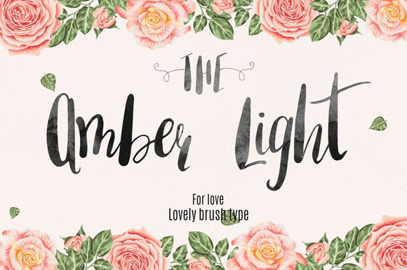 Print on Demand: Amber Light Script & Handwritten Font By Mellow Design Lab