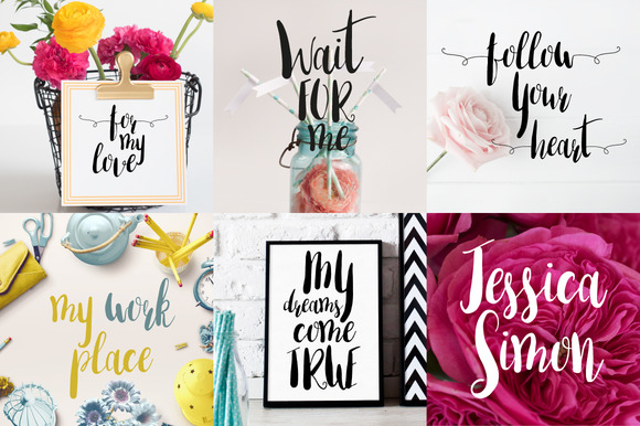 Print on Demand: Amber Light Script & Handwritten Font By Mellow Design Lab - Image 2