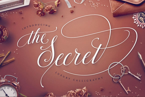 Print on Demand: The Secret Script & Handwritten Font By Blessed Print - Image 1