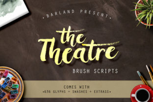 The Theatre Brush Font in Font Bundle Subscription 1