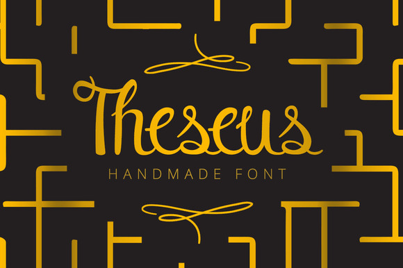 Print on Demand: Theseus Script & Handwritten Font By SNK