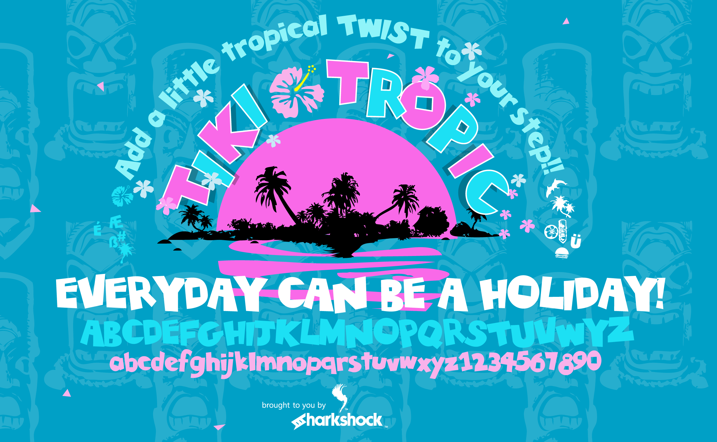 Print on Demand: Tiki Tropic Display Font By Sharkshock