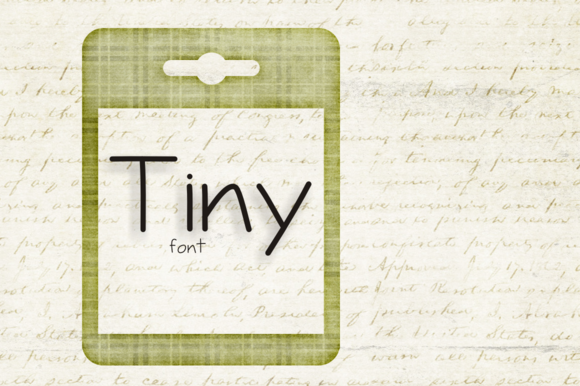 Print on Demand: Tiny Script Script & Handwritten Font By Carolina Mejia