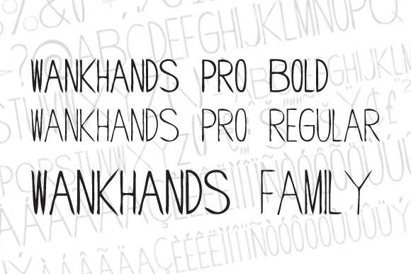 Print on Demand: Wankhands PRO Display Font By AdultHumanType