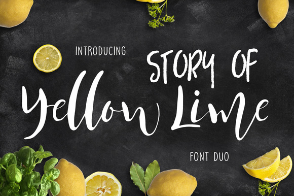 Print on Demand: Story of Yellow Lime Script & Handwritten Font By Mellow Design Lab