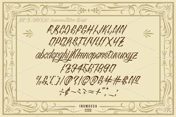 Print on Demand: InuTattoo Script Display Font By inumocca_type - Image 2