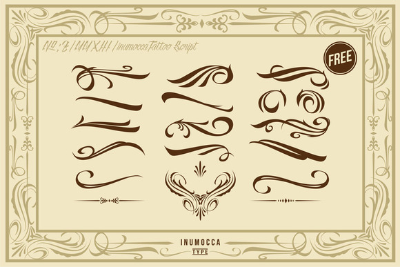 Print on Demand: InuTattoo Script Display Font By inumocca_type - Image 4