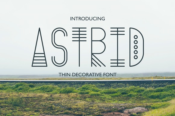 Print on Demand: Astrid Display Font By Anastasiia Macaluso