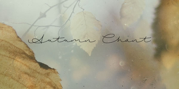 Print on Demand: Autumn Chant Script & Handwritten Font By Roland Hüse Design