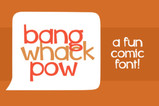 Bang Whack Pow font by Brittney Murphy Design in font bundle subscription 1