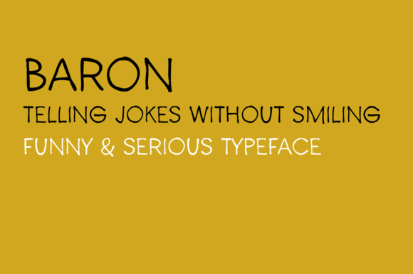 Print on Demand: Baron Display Font By Juraj Chrastina