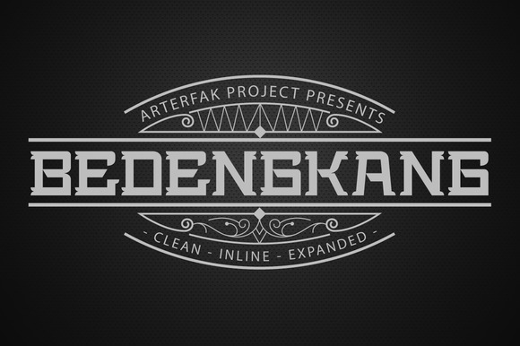 Print on Demand: Bedengkang Display Font By Arterfak Project