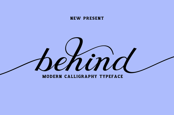 Print on Demand: Behind Script Script & Handwritten Font By Ijem RockArt - Image 1