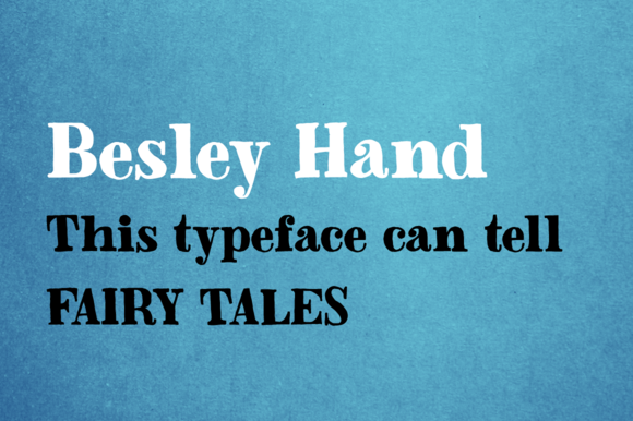 Print on Demand: Besley Hand Serif Font By Juraj Chrastina
