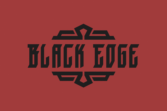 Print on Demand: Black Edge Blackletter Font By Mirco Zett Fonts