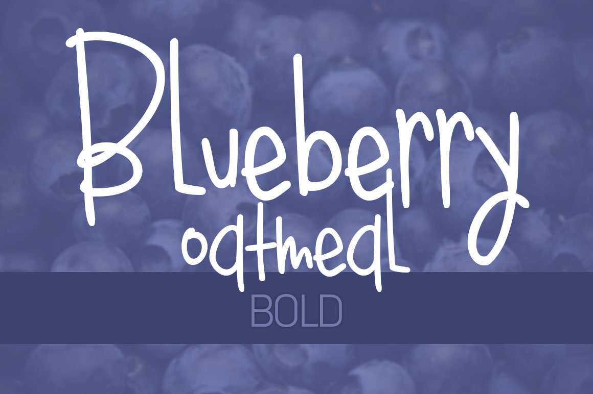 Print on Demand: Bluebery Oatmeal Bold Script & Handwritten Font By brittneymurphydesign