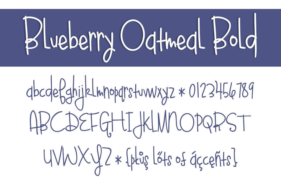 Bluebery Oatmeal Bold Font By brittneymurphydesign Image 2