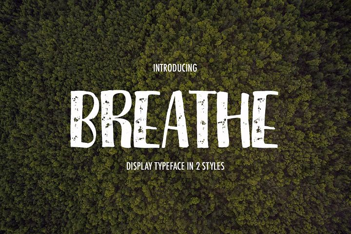 Print on Demand: Breathe Display Font By Dmitrii Chirkov