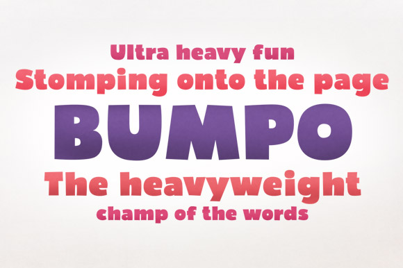 Print on Demand: Bumpo Sans Serif Font By Deepak Dogra