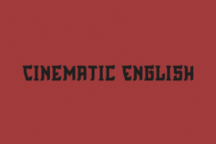 Cinematic English font by Mirco Zett in font bundle subscription 1