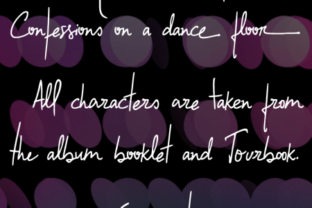 Confessions on a Dancefloor Script & Handwritten Font By Xpeehdroox