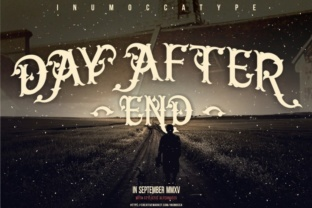 Day After End Blackletter font by Inumocca 1
