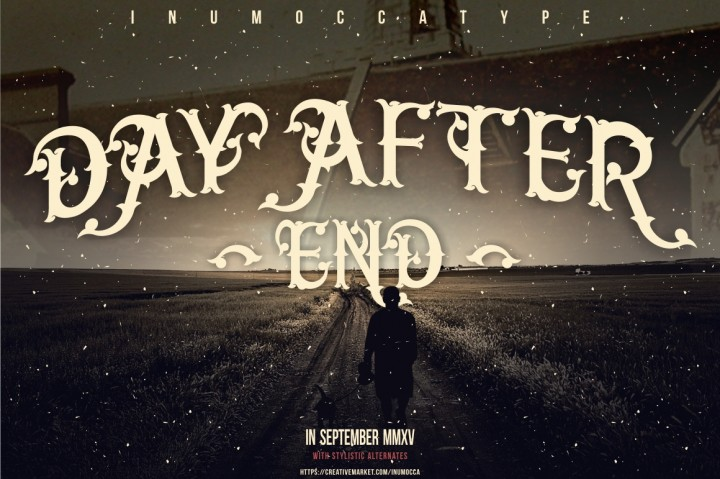 Day After End Blackletter Font By inumocca_type