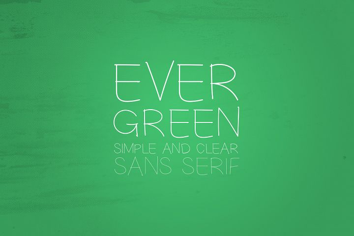 Print on Demand: Evergreen Sans Serif Font By Dmitrii Chirkov