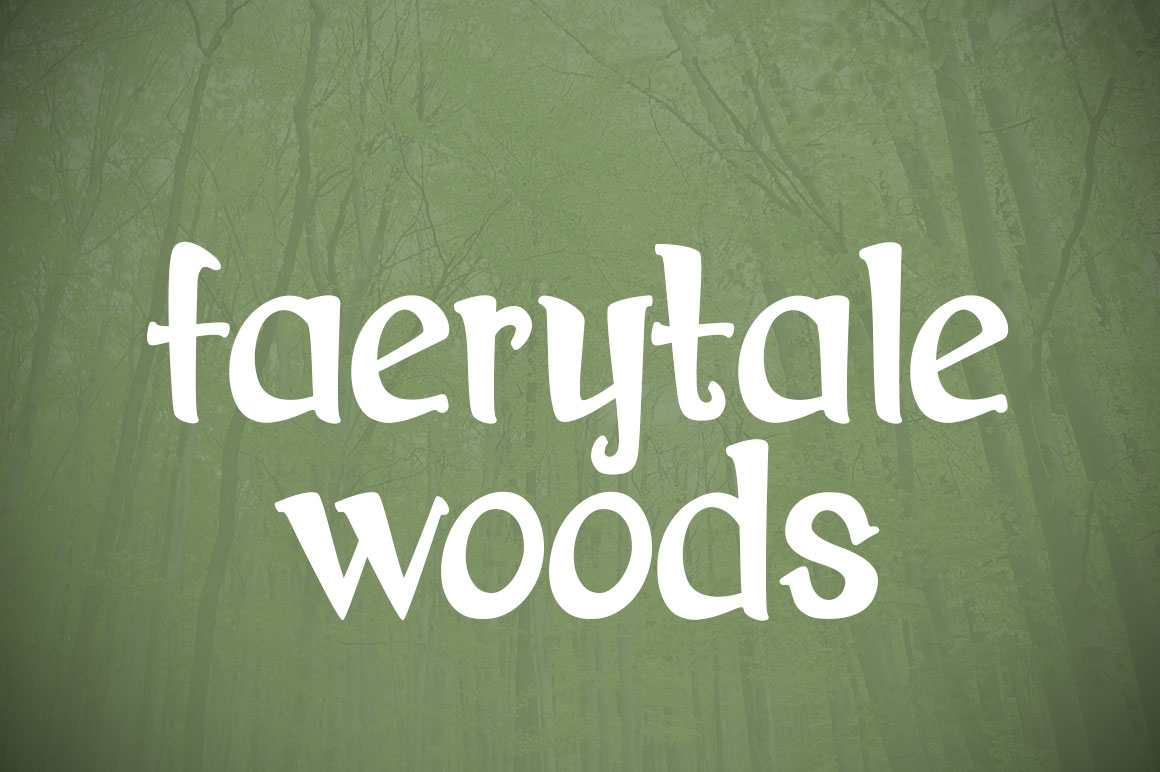 Print on Demand: Faerytale Woods Serif Font By brittneymurphydesign